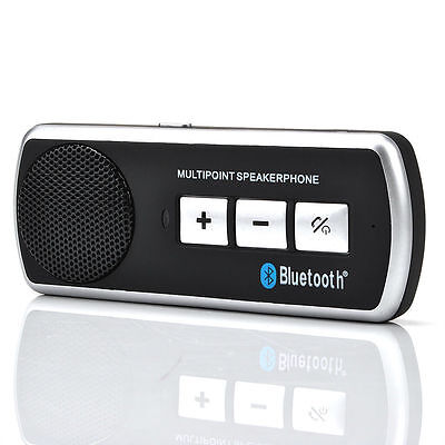 Wireless Bluetooth Car Kit Handsfree Speaker Phone Visor Clip for iPhone Android