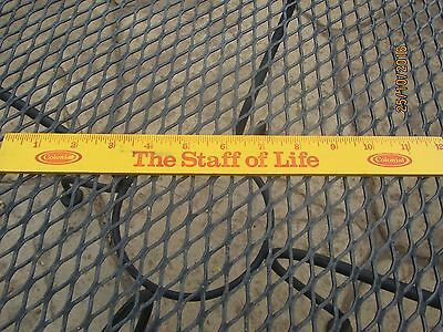 """Vintage 12"""" COLONIAL BREAD Wood Ruler - The Staff of Life"""