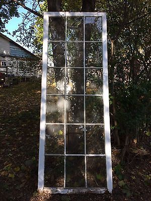 Large Antique 18 Lite Pane French Window Sash Window Wall 103x38 1887-16