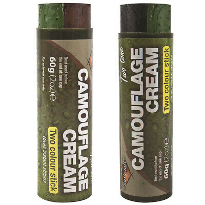 2 Colour Military Army Fancy Dress Camouflage Cam Camo Cream Face Paint Stick