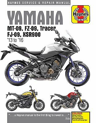 Haynes Manual 6333 Yamaha MT-09, Tracer and XSR900 2013 - 2016