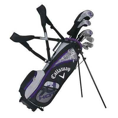 CALLAWAY GOLF XJ JUNIOR HOT 8 PIECE GIRL'S COMPLETE SET w/BAG AGES 9-12-NEW 2016