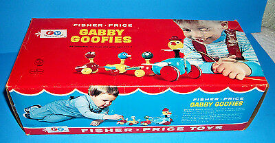 Fisher Price Gabby Goofies Mint In Box 1963 Box Is Also Mint !!!