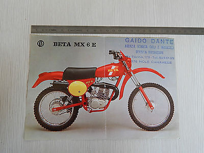 Depliant Originale Beta Mx 6 E Mx6E 50 Cross Motocross Brochure