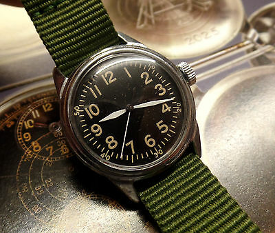 us army watch ord dept vintage 7 jewel Elgin lovely condition ww2
