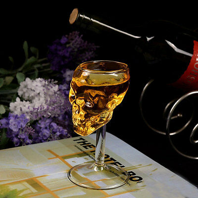 Bones Warrior Skull Designed High Wine Glass Goblet Cup Barware Drinkware