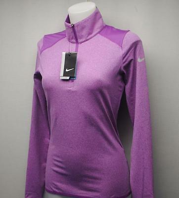New Ladies XS Nike Golf long sleeve Dri Fit polo golf shirt Purple