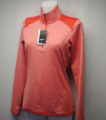 New Ladies SMALL Nike Golf long sleeve Dri Fit polo golf shirt Red polyester