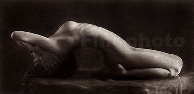 1925 Vintage FRANTISEK DRTIKOL Czech Modernist FEMALE NUDE Photo Art Deco ~ Rare