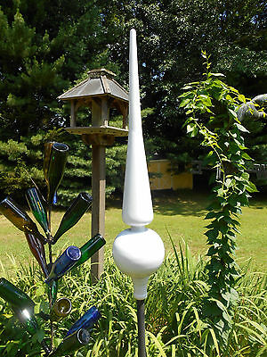 "36""+ White Finial spire for rooftop of garden"