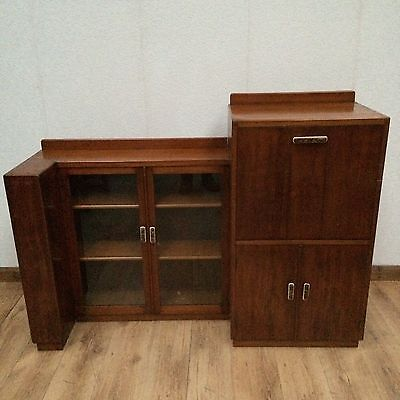 Unusual Retro Bookcase Bureau