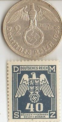 -*smal   Lot    of  - 4 -    WW2 - *US  and  *german  coins / stamps+..