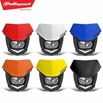 PoliSport Headlight Halo Halogen Dirtbike MX Moto DOT CE ECE Honda