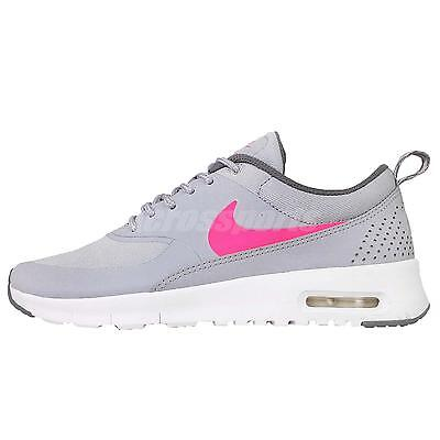 Nike Air Max Thea GS Grey Pink Kids Womens Running Shoes Sneakers 814444-002