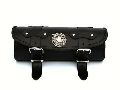 IO) Black Leather Tool Roll Bag Pouch Indian Motorcycle Chieftain Chief Classic