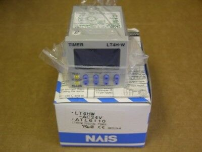 NAIS LT4HW-AC24V DIN 48 Size Digital Timer 11P Tube Type Base 1c Relay Output