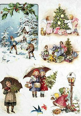 Rice Paper for Decoupage Decopatch Scrapbooking Sheet Craft Vintage  Christmas 1