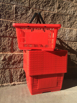 "***sale*** Shopping Baskets ""jumbo Size"" Set Of 12  Red"