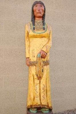 6~Foot Corn Maiden Yellow Skirt Baby in Papoose CIGAR STORE INDIAN F. Gallagher
