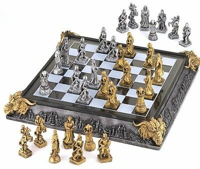 Medieval Knights & Dragons Chess Set