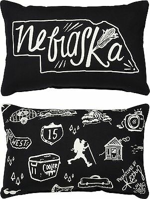 NEBRASKA Primitives by Kathy Double-Sided State Series Pillow