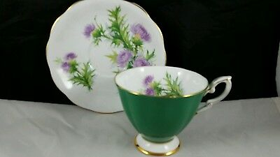 Royal Standard English Bone China Teacup and Saucer Scotch Thistle