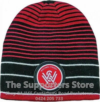 Western Sydney Wanderers A League Official Vortex Reversible Embroidered Beanie!