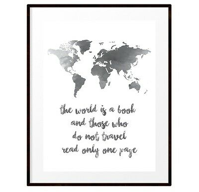 NEW The world is a book travel print Home Decor, Wall Art