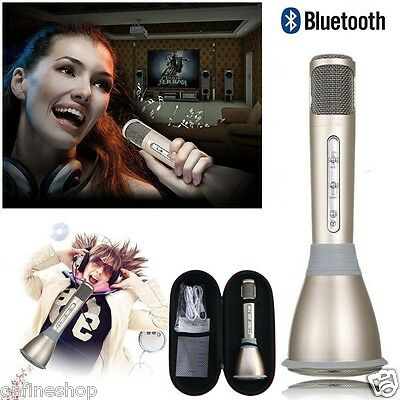 K068 Home KTV Karaoke Microphone Player Speaker Bluetooth For PC iPhone Tablet