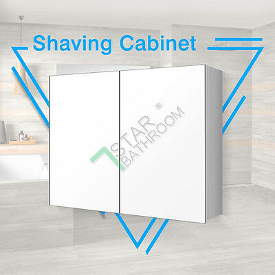900x720x150mm Bathroom Vanity Shaving Mirror Cabinet Pencil Edge Glass Medicine