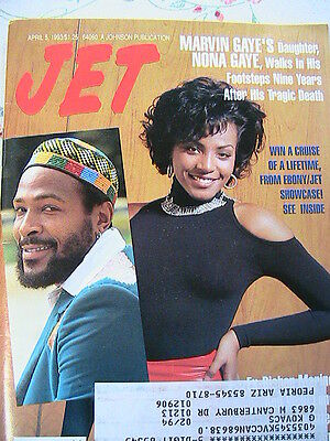MARVIN GAYE & daughter NONA GAYE~JET April 1993 *RARE~MINT* memorabilia magazine