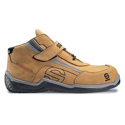 Sparco Racing High Leisure/Jobber/Mechanic Suede/Nubuck Boots Sand - UK 7/Eur 41