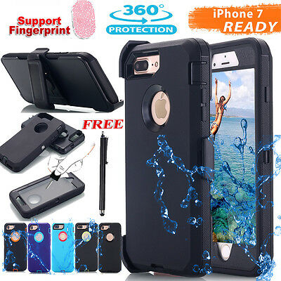 F iPhone X 7/8 Plus Heavy Duty Case (Belt Clip fits Hybrid Defence Cover Rugged)