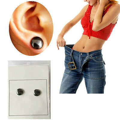 Acupoint Massage Magnetic Moxibustion Earrings Ear Studs Magnet Appetite Control