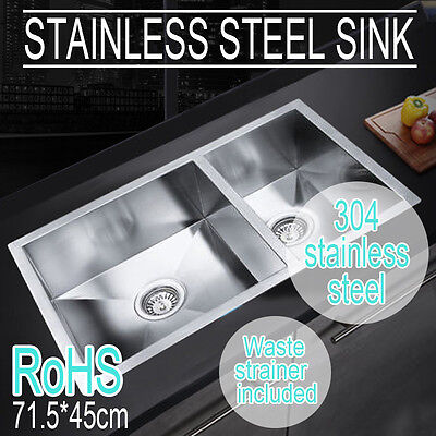 Handmade Stainless Steel Topmount Undermount Kitchen Laundry Sink Top quality