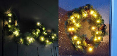 Xmas Large Luxury Led Pre Lit Decorated Christmas Decor Door Wreath / Garland