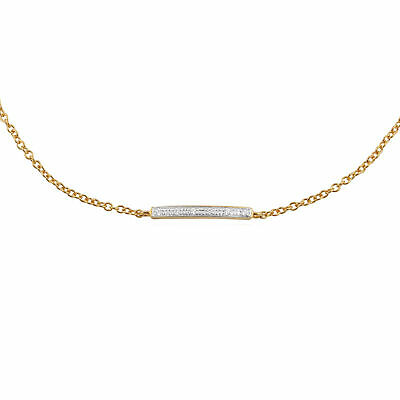 Gemondo 9ct Oro Amarillo 3pt Diamante 19cm Pulsera