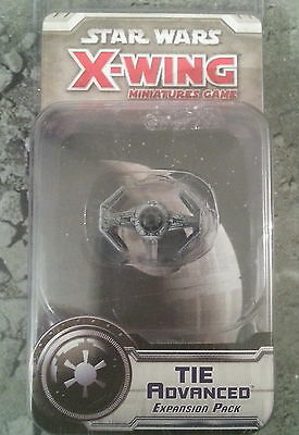 Star Wars X-Wing Miniatures Game Tie Advanced Expansion - New And Sealed