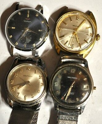 Lot of 4 Waltham Wrist Watch For Parts Repairs #WL267