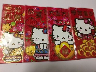 Hello Kitty 6PCS 17cm x 9cm Chinese New Year Red Packet / Pocket Envelope