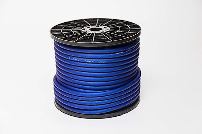 50 M Metre 4 Awg Gauge Amp Wire Power Cable Flexible True 20Mm2 Blue 150 Feet