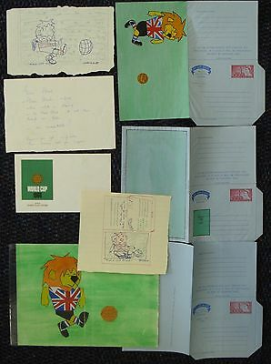 Great Britain Football 1966 World Cup Stationery Artwork