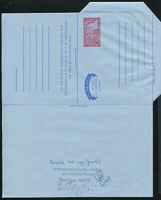 GREAT BRITAIN STATIONERY AIR LETTER LAST COPY PRINTED 1969 McCORQUODALE