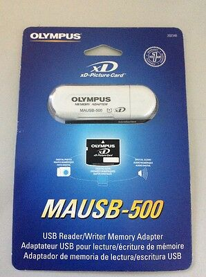 Olympus MAUSB-500 Memory Adapter USB Reader/Writer Memory Adapter xD Pic Card