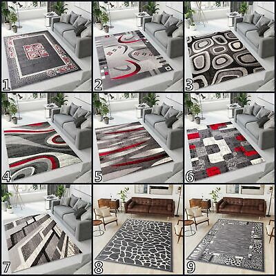 NEW BEAUTIFUL GREY MODERN RUGS TOP DESIGN LIVING ROOM ! Different Sizes !
