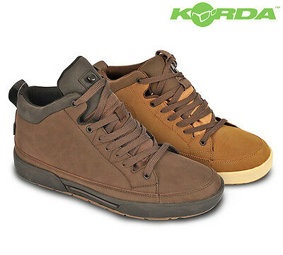 Korda New Trainers *Chocolate, Tan* Carp Fishing Shoes