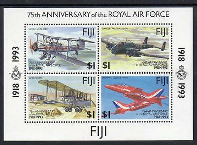 Fiji MNH 1993 The 75th Anniversary of Royal Air Force M/S