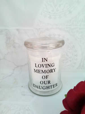 LED Memorial Grave Light Candle Mum Dad Brother Sister Nanna Personalised