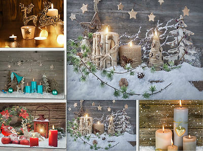 Light Up Flickering LED Canvas Christmas Scene Hanging Picture Xmas Decoration