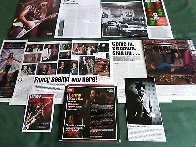 """Lenny Kravitz - Rock Music- """"clippings /cuttings Pack"""""""